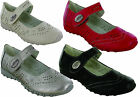 LADIES MARY JANE FLAT VELCRO BOOTS WOMEN COMFORT FORMAL PADDED IN SOCK SHOES