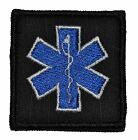 "Star of Life EMT - 2""x2"" Military Morale Funny Velcro Patch - Multiple Colors"
