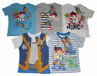 BOYS T-SHIRT TOPS DISNEY JAKE AND THE NEVERLAND PIRATES 2 3 4 5 & 6 YEARS