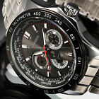 Mens Military Sport Silver Stainless Steel Date Smart Quartz Wrist Watch