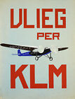 KLM airlines vintage print poster, large 4 sizes available, Airline 55