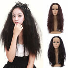 New Long Curly Wavy Hair Fall/Half Wigs Cosplay Costume/Daily Wear Black/Brown