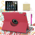 PU Leather Case 360 Rotating Cover Swivel Stand 4 ipad 4 3 2 + Stylus Pen + Film