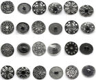 Silver Hot Tone Sewing Metal Buttons M0334