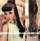 """24""""/60cm one piece hair extensions Straight Braid pigtail ponytails Bandage/Clip"""