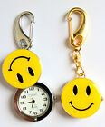 Sparkly Smiley Face Nurse FOB Watch in Silver and Gold for Nurses Paramedics