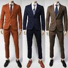 New Top Mens Casual  One Button Sword Collar Slim fit Suit Jacket Pants