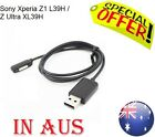 Black Magnetic USB Charger Cable Adapter For Sony Xperia Ultra XL39H Z1 L39H