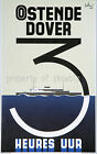 Rare vintage Ostende-Dover maritime ad print poster, 4 sizes available-Boat 32