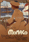 Rare vintage Monaco Maritime ad print poster, 4 sizes available-Boat 36