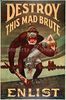 Vintage War propaganda/advertisement print poster, large 4 sizes available-War 6
