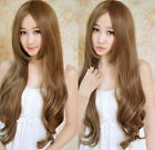 Sexy Girls' Women's Point Bangs Long Curly Wave Hair Cosplay Costume  Wigs + cap