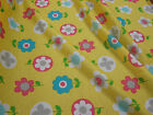 Yellow Flower Novelty Print Jersey Fabric - 50cm or 1m lengths