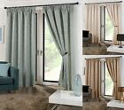 Cuba Design Fully Lined Curtains - Vertical Waves Design - Pencil Pleat Tape Top
