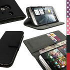 PU Leather Wallet Flip Case Cover Holder for HTC One M8 2014 + Screen Protector