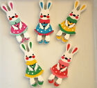 10 / 20 Wood Rabbit Button CHOICE OF COLOUR Sewing Scrapbooking