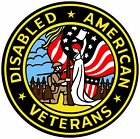 UNITED STATES Disabled American Veteran Decal Bumper Sticker Military USA