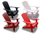 New Eco-Friendly Deluxe Patio Fanback Recycled Plastic Adirondack Chair-Choose