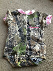 Personalized Girls Pink Trim Baby Camo Camouflage Infant Newborn Creeper