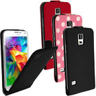 PU Leather Flip Case Cover Holder for Samsung Galaxy S5 SV SM-G900 + Screen Prot