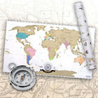 Rubbel Weltkarte Scratch Off World Map Poster-Karte Landkarte zum Rubbeln