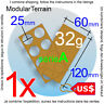 1x MOVEMENT TRAY MDF 2x4 4x2 (A) 25mm ROUND BASE WAR HAMMER GAME USD