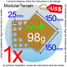 1x MOVEMENT TRAY MDF 5x5 (A) 25mm ROUND BASE WAR HAMMER GAME USD