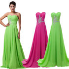 Long Chiffon Wedding Evening Formal Party Ball Gown Prom Bridesmaid Dress 6-16