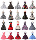Pinup Rockabilly Polka Dots Pattern 50s 60 Cotton Vintage Dress Casual Tea Party