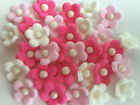 EDIBLE FLOWER TOPPERS CUPCAKE DECORATIONS MINI 1CM BLOSSOM BRIGHT X 500
