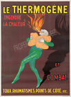 Vintage Le Thermogene French print poster, large 4 sizes available