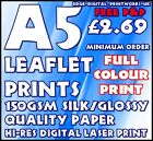 QUALITY GLOSS PAPER LEAFLET / FLYER PRINTING / ADVERTISING 130GSM GLOSS A5