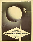 Vintage French tennis ad print poster, large 4 sizes available