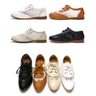 US5-9 New Leather & Lace Casual Shoes womens Oxfords flats shoes slip on
