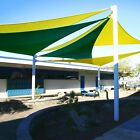 16' x 16' x 16' Triangle Sun Shade Sail Fabric Outdoor Canopy Patio Awning Cover