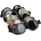 Vintage Victorian Steampunk Goggles Welding Punk Glasses Gothic Cosplay Black