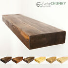 Wooden Floating Shelves Solid Rustic Timber in a Range of Sizes 9x3