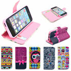 Different Pattern Silicone Flip Leather Holster Case Cover for Apple iPhone 5 5S