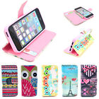 Lovely Pattern Silicone Flip Leather Holster Case Cover for Apple iPhone 5 5S