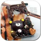 Chocolate Deco Sweets Bear Cute Kawaii Bling Back Hard Skin Case Cover For Nokia