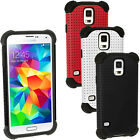 Silicone Skin Gel Case & Mesh for Samsung Galaxy S5 SV SM-G900 Shockproof Cover