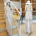 Charm Backless Women's Long Sundress Prom Party Ball Gown Cocktail Evening Dress