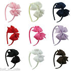 Girls Kids Children  Alice Style Bands Headbands 3 inch pin wheel bow