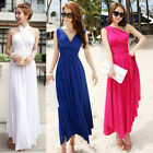 Sexy Women Summer One Shoulder Long Evening Cocktail Party Beach Dress 4Colors