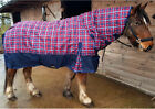 Light Weight No Fill Aqua Rainbow Turnout Rug Horse & Pony All Sizes 3'6-7'0""