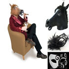 Creepy Rubber Latex Head Horse Mask Animal Prop Halloween Costume Fancy Party