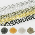 3mm 4.5mm Curb Chain fit Jewelry Necklace Making With Connector 5 Colours