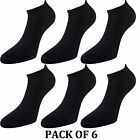 Womens-Ladies Sports Performance Trainer Low Cut Socks - 6 Pair Pack