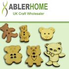 30/100pcSewing Wooden Buttons Teddy bear Collection Cardmaking Scrapbooking NEW