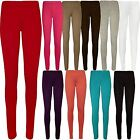 New Ladies Plus Size Full Ankle Length Stretch Leggings Long Tight Trousers12-26